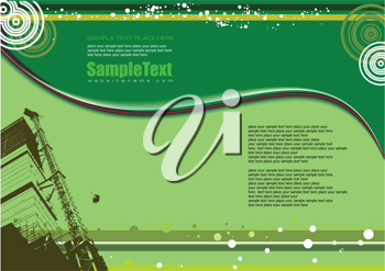 Green background with lines and industrial image (page or site background)
