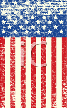 Royalty Free Clipart Image of an American Grunge Flag