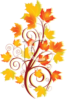 Royalty Free Clipart Image of an Autumn Design