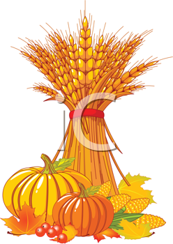 Royalty Free Clipart Image of an Autumn Harvest
