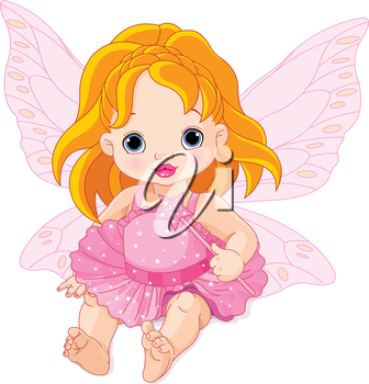 Illustration of cute baby fairy
