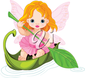Illustration of fairy floats on a boat
