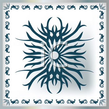 Royalty Free Clipart Image of a Decorated Tile