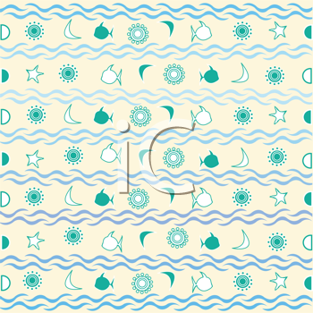 Royalty Free Clipart Image of a Marine Background