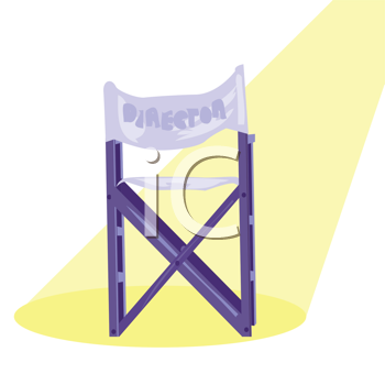 Royalty Free Clipart Image of a Movie Director's Chair