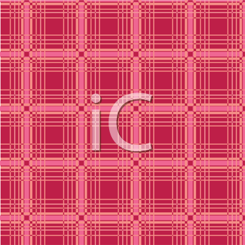 Royalty Free Clipart Image of a Red Plaid Background