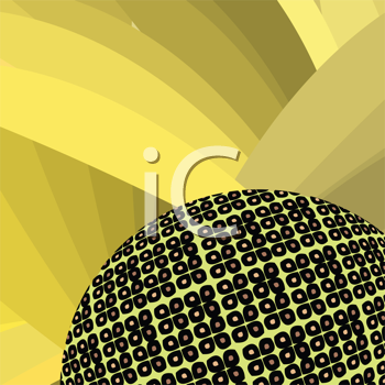 Royalty Free Clipart Image of a Sunflower Background