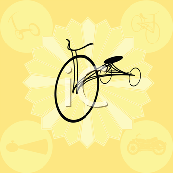 Royalty Free Clipart Image of a Vintage Bicycle