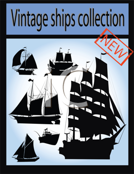 Royalty Free Collection of a Collection of Ships