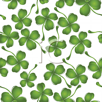 Royalty Free Clipart Image of Clovers