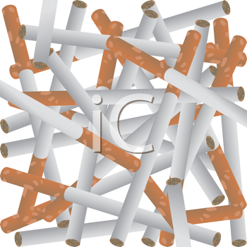 Seamless background with cigarettes