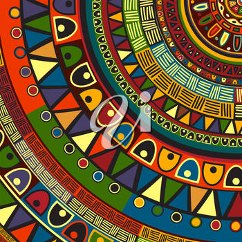 Colored tribal design, abstract art