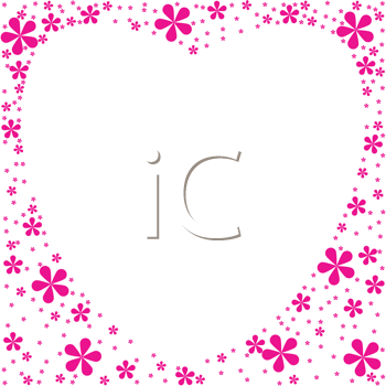 Royalty Free Clipart Image of a Floral Heart Shaped Frame