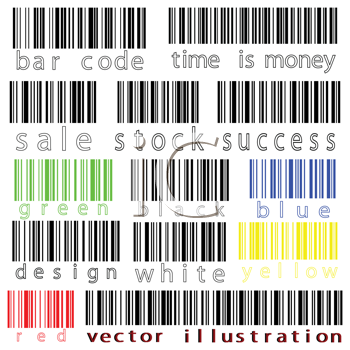 bar codes vector against white background, abstract art illustration