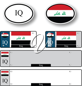 iraq auto set against white background, abstract vector art illustration, image contains transparency