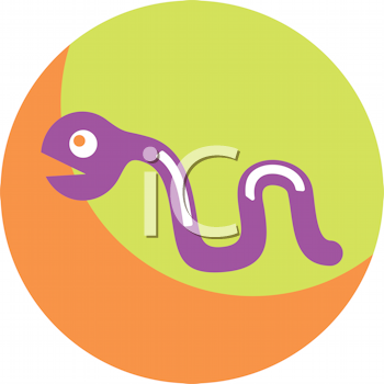 Royalty Free Clipart Image of a Computer Worm