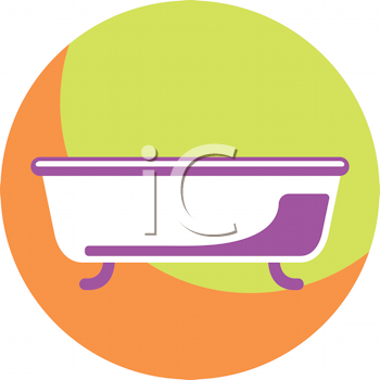 Royalty Free Clipart Image of a Tub