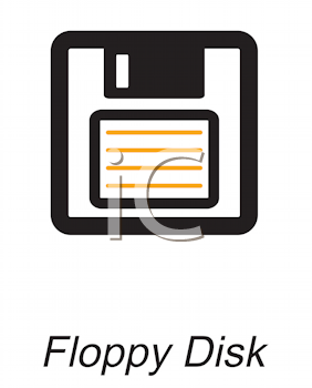 Royalty Free Clipart Image of a Floppy Disk