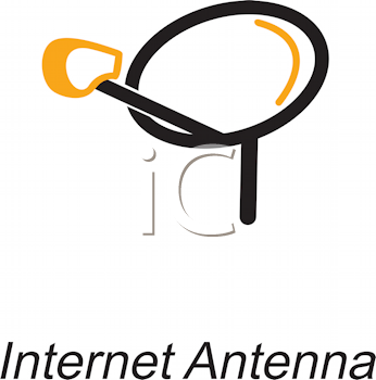 Royalty Free Clipart Image of Internet Antenna