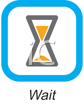 Royalty Free Clipart Image of a Wait Button