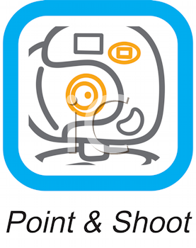 Royalty Free Clipart Image of a Point and Shoot Button