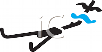 Royalty Free Clipart Image of a Rowing Machine