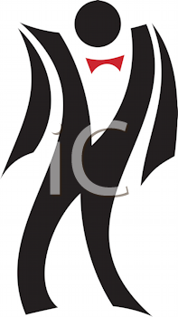 Royalty Free Clipart Image of a Guy in a Tuxedo