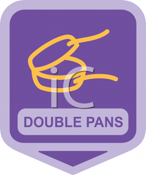 Royalty Free Clipart Image of Double Pan