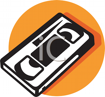 Royalty Free Clipart Image of a Video Cassette