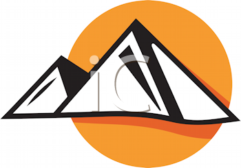 Royalty Free Clipart Image of Pyramids