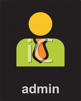 Royalty Free Clipart Image of an Admin Icon