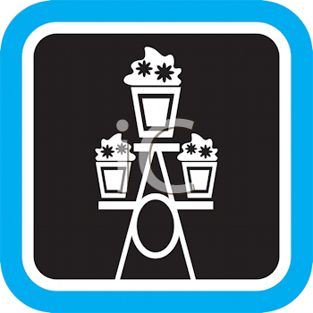 Royalty Free Clipart Image of a Plant Stand