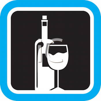 Royalty Free Clipart Image of Wine