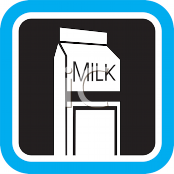 Royalty Free Clipart Image of a Carton of Milk