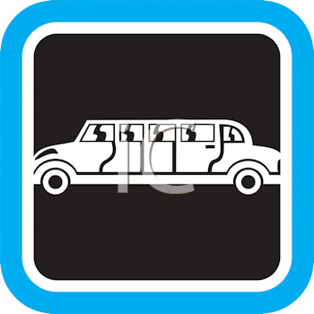 Royalty Free Clipart Image of a Limousine