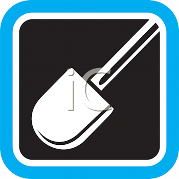 Royalty Free Clipart Image of a Shovel