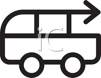 Royalty Free Clipart Image of a Bus