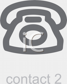 Royalty Free Clipart Image of a Telephone Contact Icon