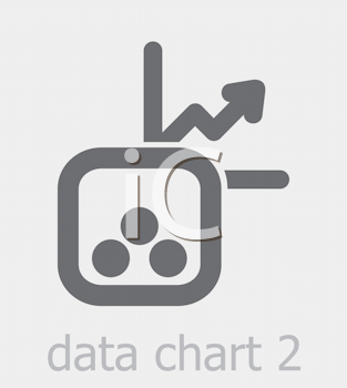 Royalty Free Photo of a Data Chart Icon