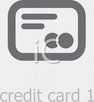 Royalty Free Clipart Image of a Credit Card Icon