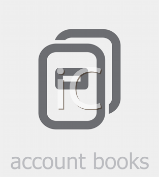 Royalty Free Clipart Image of Account Books
