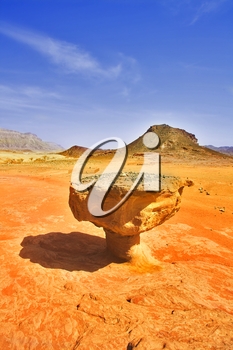 Royalty Free Photo of the Red Sandstone in the Arava Desert in Israel