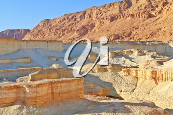 Magnificent ancient mountains in the early winter morning. Dead Sea, Israel