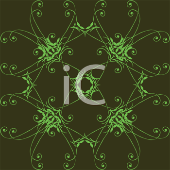 Royalty Free Clipart Image of a Green Background With a Green Design