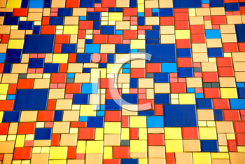 Royalty Free Photo of Multi-Coloured Tiles