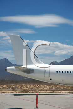 Royalty Free Photo of an Airplane Tail