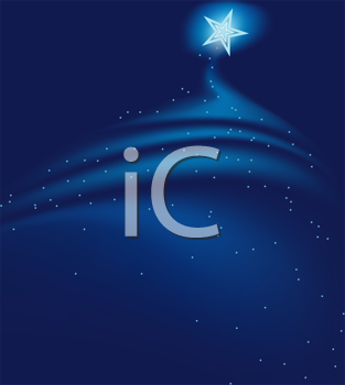 Royalty Free Clipart Image of a Blue Starry Background