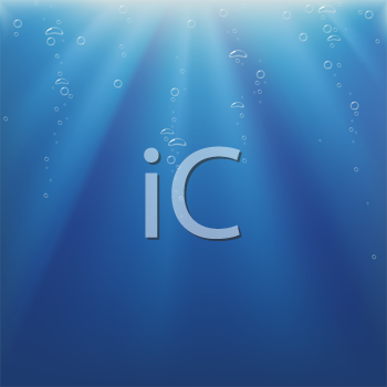 Royalty Free Clipart Image of Underwater Light Bubbles