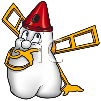 Royalty Free Clipart Image of a Windmill Tooth