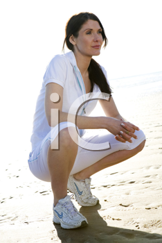 Royalty Free Photo of a Woman at the Beach